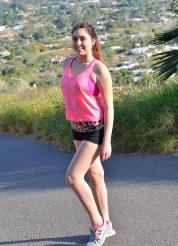 Erin Running Topless